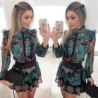 schöne kleider für frauen groihandel-Frauen retro Kleider langhülse gedrucktes Minikleid Europa schöne neue Pop verkaufen beiläufige Frauen Kleidung