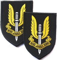 """Wholesale Precision Services - """"WHO DARES WINS"""" British Special Air Service regiment High Quality Full Precision 3D Embroidery PVC Hook & Loop Armband"""