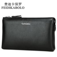 Wholesale Top Fashion Clutch Bag - FEIDIKABOLO Top Quality Men Wallets Luxury Black Leather Purse Long Dollar Price Male Carteira Masculina Clutch Wallet Handy Bag
