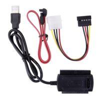 ingrosso sata convertitore usb usb-Cavo convertitore adattatore SATA / PATA / IDE a USB 2.0 per disco rigido da 2,5 / 3,5 pollici 2425 #