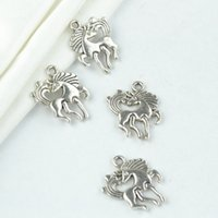 Wholesale Vintage Metal Animal Jewelry - wholesale 125pcs vintage silver plated horse charms metal pendants for necklace & bracelets jewelry making 20*16mm 2134