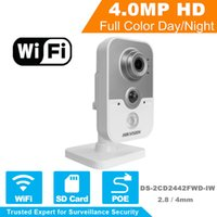 In Stock HD Wireless IP Camera 1080P DS-2CD2442FWD-IW 4MP IR Cube Network WiFi Camera Android Supporto Sostituire DS-2CD2432F-IW