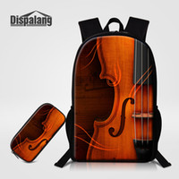 Wholesale Violin For Kids - 2 PCS Set Children School Bags For Primary Violin Design Backpacks Pencil Case For Kids Pretty Bookbags Mochilas Escolar For Teenagers Pack