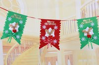 Wholesale Six Flags - New arrival Christmas decorations Christmas pull flag Christmas Six sides flag hanging Christmas Christmas decorations fast dhl