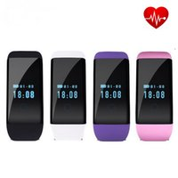 Wholesale Bangle Kid - Smart Bracelet Watch Dfit D21 Bluetooth Smartwatch Band Bangle Heart Rate Monitor Waterproof SmartWatch for Iphone Android IOS Smartphone