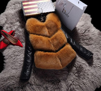 Wholesale Women Warm Winter Skirt - 2017 Women warm faux fur A fitting winter jacket with detachable sleeve coat Free shipping