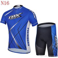 Wholesale Fox Bicycle - 2016 New Fox Teams Cycling Jerseys Set Short Sleeve With Padded Bib None Bib Trousers Bicycle Clothes For S-3XLx