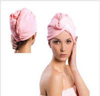 ingrosso asciugamano asciutto rapido-Asciugamani in microfibra a 4 colori Asciugacapelli magico Asciugamani per turbante Asciugamani morbidi asciutti Asciugamano in cotone ad asciugatura rapida Asciugamano per il trucco