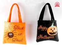 Wholesale Decoration Woven - 2016 New Halloween handbag Non-woven bag Gift candy bag for children Halloween props bag festival decoration