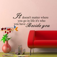 Wholesale Decorative Wall Wording - It doesn't Matter creative quote home decoration wall decal 8134 decorative warm words wall stickers home decor