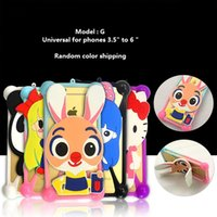 "Wholesale Bumper Wholesale Iphone - New hot universal silicone bumper frame case cover for apple iphone 7 plus with cartoon design 3.5"" to 6"" phone skin cover"