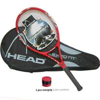Wholesale Carbon Tennis Racquet - High Quality Carbon Fiber Tennis Racket Racquets Equipped with Bag Tennis Grip Size 4 1 4 racchetta da Tennis Free Shipping
