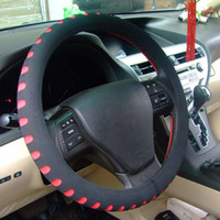 Wholesale Pu Steering Wheel - New EVA Punching Universal Car Steering Wheel Cover Diameter 38cm Automotive Sup 5 Colors for Choice