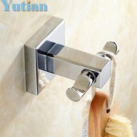 Wholesale Construction Hardware - Free Shipping Robe Hook,Clothes Hook,Solid Brass Construction with Chrome finish,Bathroom Hardware,Bathroom Accessories,YT-11402