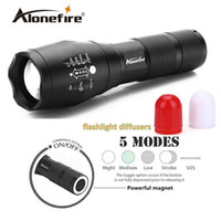 Wholesale Fish Cave - Alonefire G700-M CREE XM-L T6 3800LM Zoomable LED Flashlight LED signal light Emergency Hunt Fish Railway Signal Work Light Handheld Lamp