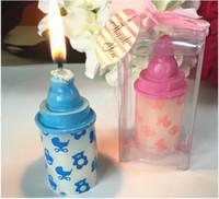 favores do chuveiro da vela venda por atacado-100 pcs 4 * 4 * 8 cm favores da vela da garrafa de bebê favores do chuveiro de bebê do partido do partido presentes centrais de distribuição de acessórios em estoque