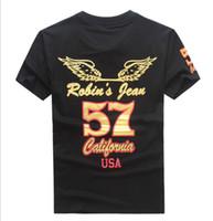 jeans robin pour vêtements hommes achat en gros de-2017 nouvelle mode États-Unis marque de marée Robin jeans hommes t-shirts de designer de vêtements à manches courtes T-shirts pour hommes