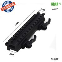 Dovetail ampliar Weaver 20mm para 20mm Scope bases Montagens de 45 graus lado 20mm Rail Mount Quick Release Picatinny Weaver Rail Hunting-D0037