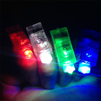 Wholesale rave supplies - LED Finger Lamp Bright Finger Flashlights Laser Rave Finger Lights Kids Toys Party Favors Supplies for Concert Christmas