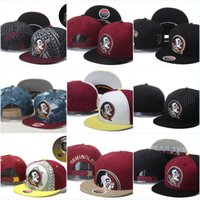 Gorras de baloncesto Florida State Seminoles, Snapback College Football Hats, Gorra ajustable, 2016 New Style Cheap Florida (FSU) Hat, Envío gratis