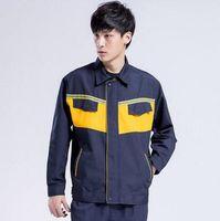 Wholesale Coat Pant Stand Collar - SET OF COAT+PANTS Long-sleeve worker coat factory engineer uniform mechanic uniform