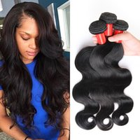 Wholesale customized weave hair resale online - 7A unprocessed human hair brazilian virgin hair body wave customized inches hair extensions brazilian hair weave bundles