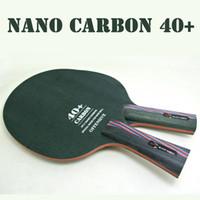 Wholesale Paddle Bat - Original XVT 40+ NANO CARBON FIBER Table Tennis Blade   Table Tennis paddle   Pingpong bat Free Shipping