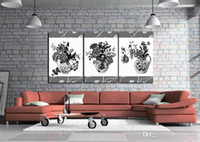 Wholesale beautiful flower art painting resale online - Modern Beautiful Flower Fine Floral Painting Giclee Print On Canvas Home Decor Wall Art Set30386