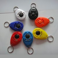 Wholesale Dog Beeper Training - High quality Pet Dog Training Adjustable Sound Beeper Dogs Clicker Trainer Dog Training With Key Chain