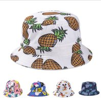 Pêche en gros-Summer Lady Femmes Belle Fruit Cartoon Floral Dolls Flat Chapeau Causal Plage Topee Outdoor Fisherman Camping Sun Hat