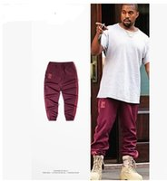 Wholesale Pencil Prints - Kanye west Crewneck Sweatpants S-3XL ADID Pants Men loose Joggers Comfortable Men Hip Hop Elastic Pants