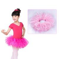 Wholesale Kids Ballerina Costume - Children Girls Elastic Waistband Ballet Dance Tutu Skirts 4-14 Years Kids Cutely Fluffy Organza Ballerina Skirt Dance Costumes