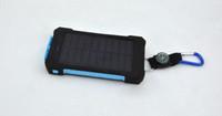 batterie solar usb mah großhandel-20000 mAh universal 2 USB Port Solar Power Bank Ladegerät Externe Pufferbatterie Mit Kleinkasten Für iPhone Samsung handy ladegerät