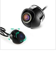 Wholesale Mini Car Side View Camera - 2016 Mini CCD Night Vision 360 Degree Car Rear Front Side View Backup Camera With Mirror Image Conversion Lines