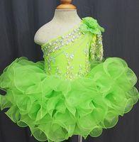 Discount ruffles cakes - Sparkle Pageant Dresses Cake dressFruit green for Kids 2017 Beaded Handmade Flowers Toddler Glitz Mini Cupcake Gorgeous Flower Girls Dresses