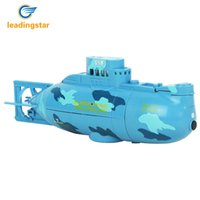 Wholesale Large Electric Rc Boats - Wholesale- LeadingStar RC Water Boat 6CH Speedboat Model High Powered 3.7V Toy Boat Plastic Model Large RC Submarine Outdoor Toys zk35