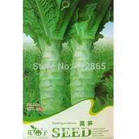 Wholesale Vegetable S - original package 30pcs Stem Lettuce Seeds * Celtuce * Chinese Asparagus Lettuce * Vegetable Seeds3 bags per lot s