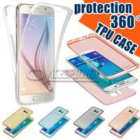 iphone ön kapak kasası toptan satış-Iphone XS MAX XR Durumda 360 Derece Tam Vücut Ön Arka TPU kılıfları Samsung S10E S10 Artı Şeffaf Clear Cilt Kapak