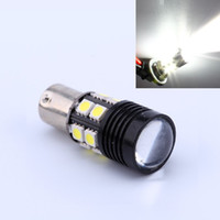 Wholesale H4 Smd Bulb - Free Shipping super bright 12W White Cree R5 + 12-SMD 1156 BA15S 1141 Car Tail Backup Reverse LED Light