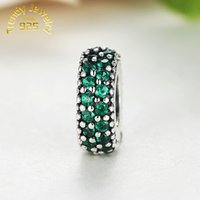 Wholesale Inspiration Days - Pay link : Wholesale Inspiration Within With Dark Green CZ European Charm