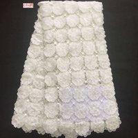 Wholesale guipure lace dresses - African Lace Hot Sell 2017 New Arrival Plain White Wedding dresses African Water soluble guipure lace Fabric High Quality Corded lace W2-361
