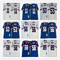 Wholesale Vintage Baseball Bank - Retired Player men's 56 Lawrence Taylor Throwback Jersey Vintage 89 Mark Bavaro 11 Phil Simms 53 Harry Carson 58 Carl Banks stitched Jersey