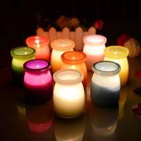 jar velas venda por atacado-15 horas Scented velas Pudim Jar Candle com uma variedade de fragrância, Aroma Parafina Wax Aromatherapy Candles Código do Produto: 101-1016