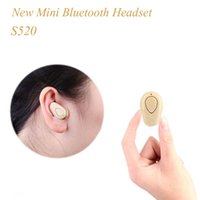 Wholesale Super Small Bluetooth Headset - S520 Mini Bluetooth Earphone Stereo Wireless Invisible small Headphones Super Headset Music handfree for iphone 7 vs S530 EAR200