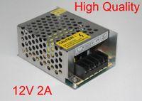 высококачественный блок питания 12 в оптовых-Высокое качество 12 В 2A DC 24 Вт универсальный регулируемый импульсный источник питания 12 В светодиодный драйвер для 3528 светодиодные полосы универсальный регулируемый