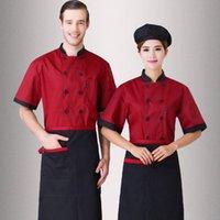 Wholesale Formal Wear Uniforms - The chef uniform summer wear short sleeve The hotel kitchen equipment uniform Chinese restaurant and western restaurant hotel chef uniform