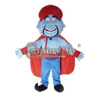 Wholesale Aladdin Cartoon - Wholesale-Aladdin Mascot Cartoon Mascot Costume Custom Made For Birthday Halloween Party