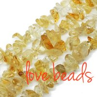 Wholesale Natural Citrine 8mm - 5mm-8mm Natural Citrine Quartz Freeform Gravel DIY Gems Loose Beads 80cm Strand wholesale Free Shipping(F00326) wholesale