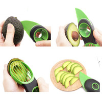 Wholesale Fruit Pitter - 1PC Hot Portble 3-in-1 Safety Avocado Slicer Corer Plastic Fruit Pitter Cooking Tools Durable Blade Kitchen Accessories