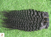 Wholesale Low Price Virgin Remy Hair - Low price Virgin Brazilian Curly Hair Extension 100% Human Remy Curly Hair Weave 6A Double Weft Jet Black Hair Extensions